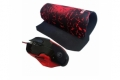 Mouse + Mousepad  Marvo  M 416 + G1BK LED ( USB )